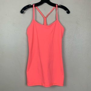 Lululemon Power Y Tank Top Coral Orange 6